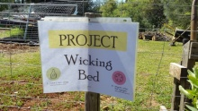 Wicking bed -sign